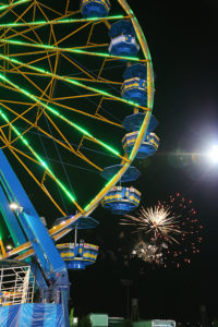 Holiday Magic Festival of Lights Rides at Night with Fireworks