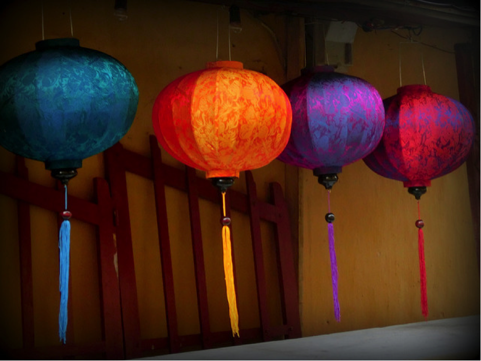 Vietnam silk lanterns